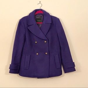 Talbots double breasted wool pea coat